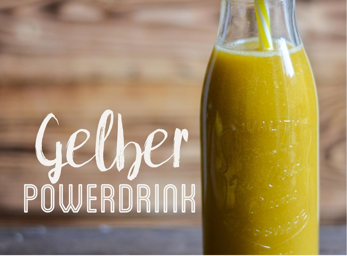 *Gelber Powerdrink: Mit dem Vitaminschock gegen den Winterschlaf