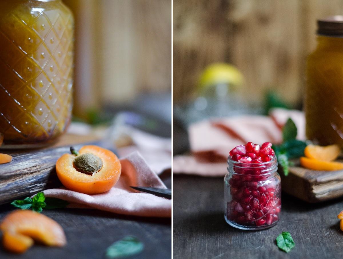 Aprikosen-Eistee